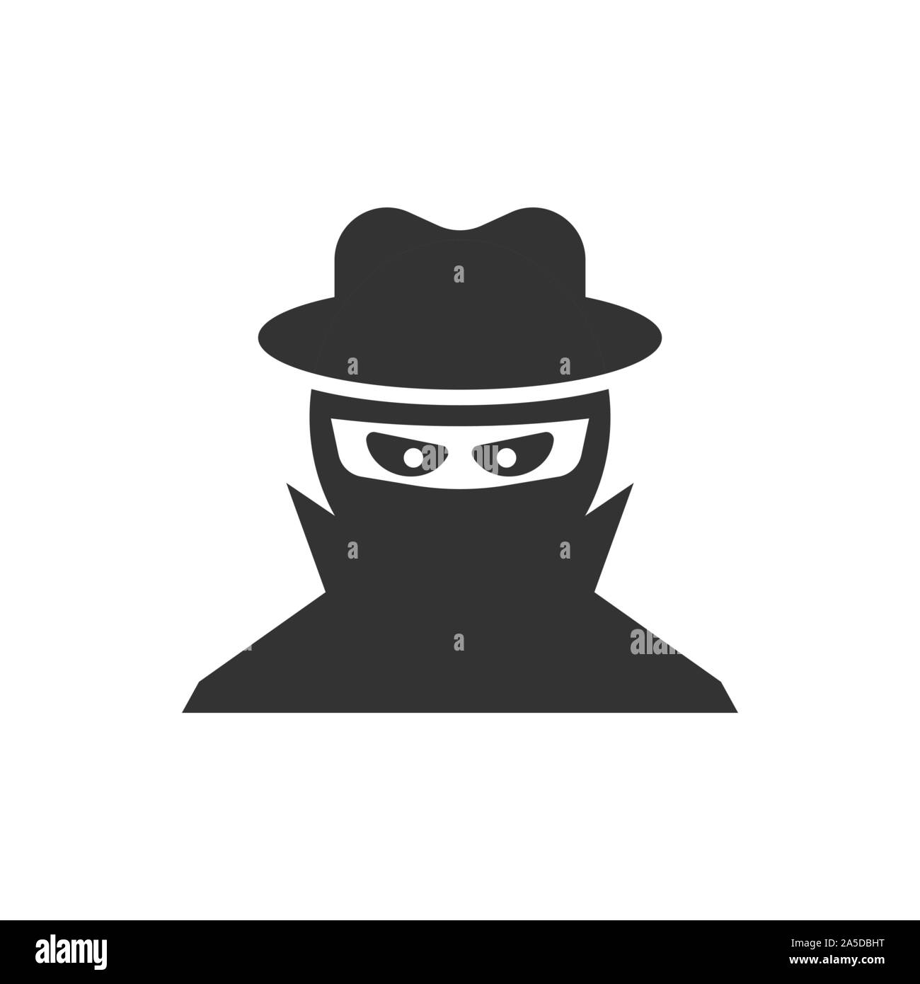 Fraud Hacker Icon In Flat Style Spy Vector Illustration On Isolated Background Cyber Defend Business Concept Stock Vector Image Art Alamy