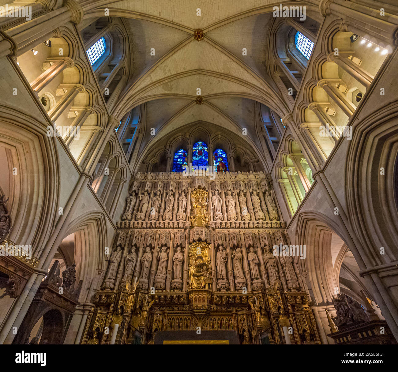 Interior of Southwark Cathedral (The Cathedral and Collegiate Church of St Saviour and St Mary Overie), Southwark, London, UK. Stock Photo