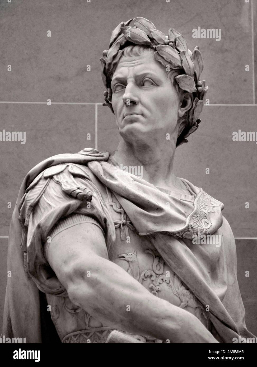 Gaius Julius Caesar 100 – 44 BC Roman emperor general statesman ( Roman, Italy, ) by Nicolas Coustou 1658–1733 Baroque France, Stock Photo