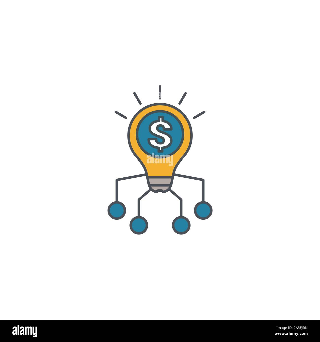Fintech Innovation icon set. Four elements in diferent styles from fintech icons collection. Creative fintech innovation icons filled, outline - Stock Photo