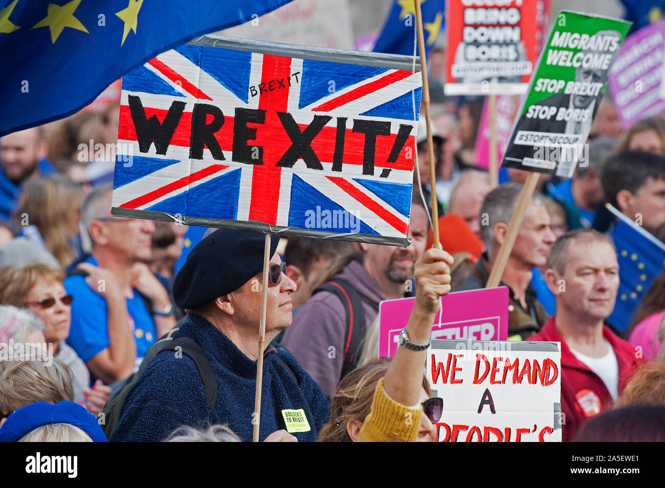 People's Vote March - 19.10.19 Stock Photo