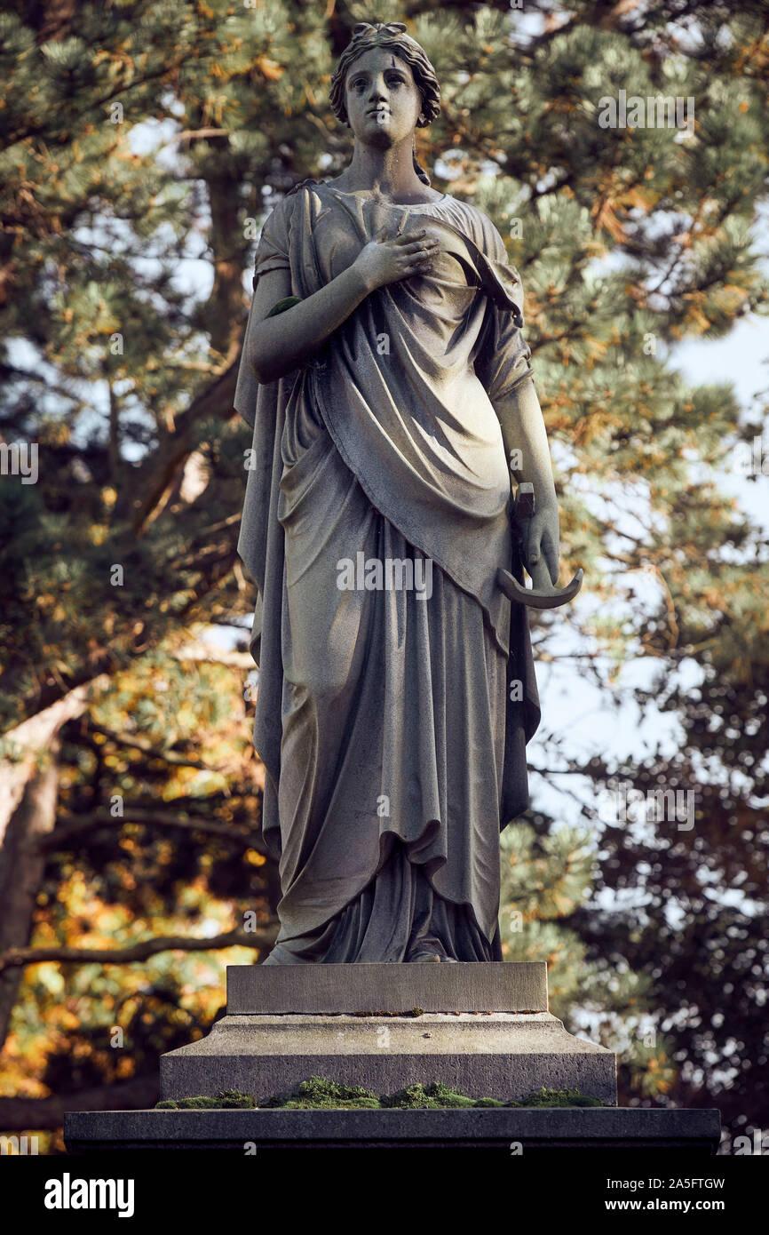 Edinburgh  UK October  20 2019; Dean Cemetery statue. credit steven scott taylor / alamy live news Stock Photo