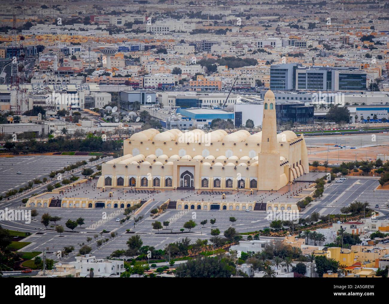 Grand Mosque Abdul Wahab Doha Stock Photo - Alamy