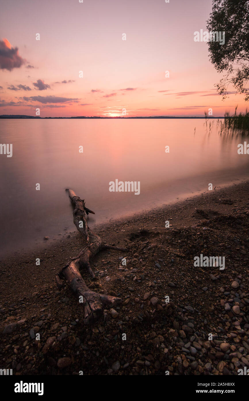 Lake Chiemsee in Germany Stock Photo