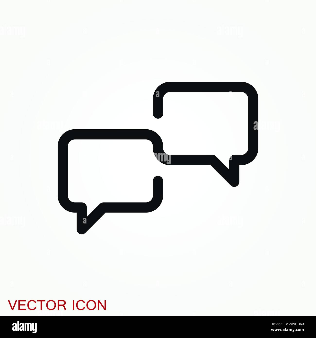 Communication vector icons isolated on background Stock Vector