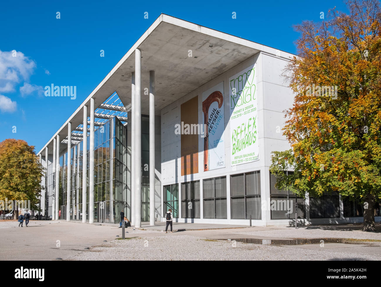 Exterior of Pinakothek Der Moderne museum, Kunstareal, Munich, Bavaria, Germany Stock Photo
