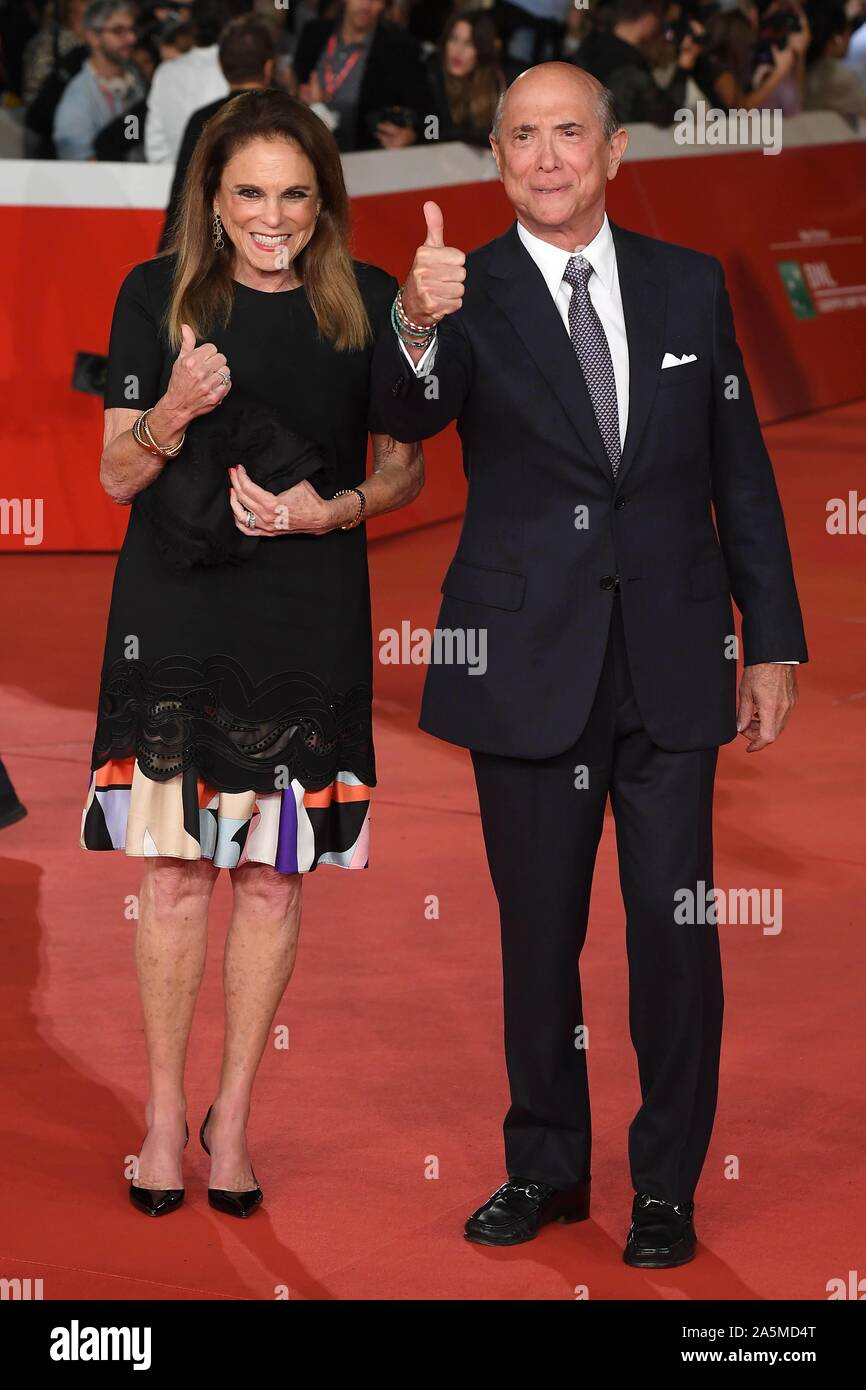 Rome, Italy. 21st Oct, 2019. Rome Cinema Fest 2019. Rome Film Festival. Red carpet film The Irishman. Pictured: Lewis Eisenberg, US ambassador to Italy with his wife Judith Credit: Independent Photo Agency/Alamy Live News Stock Photo