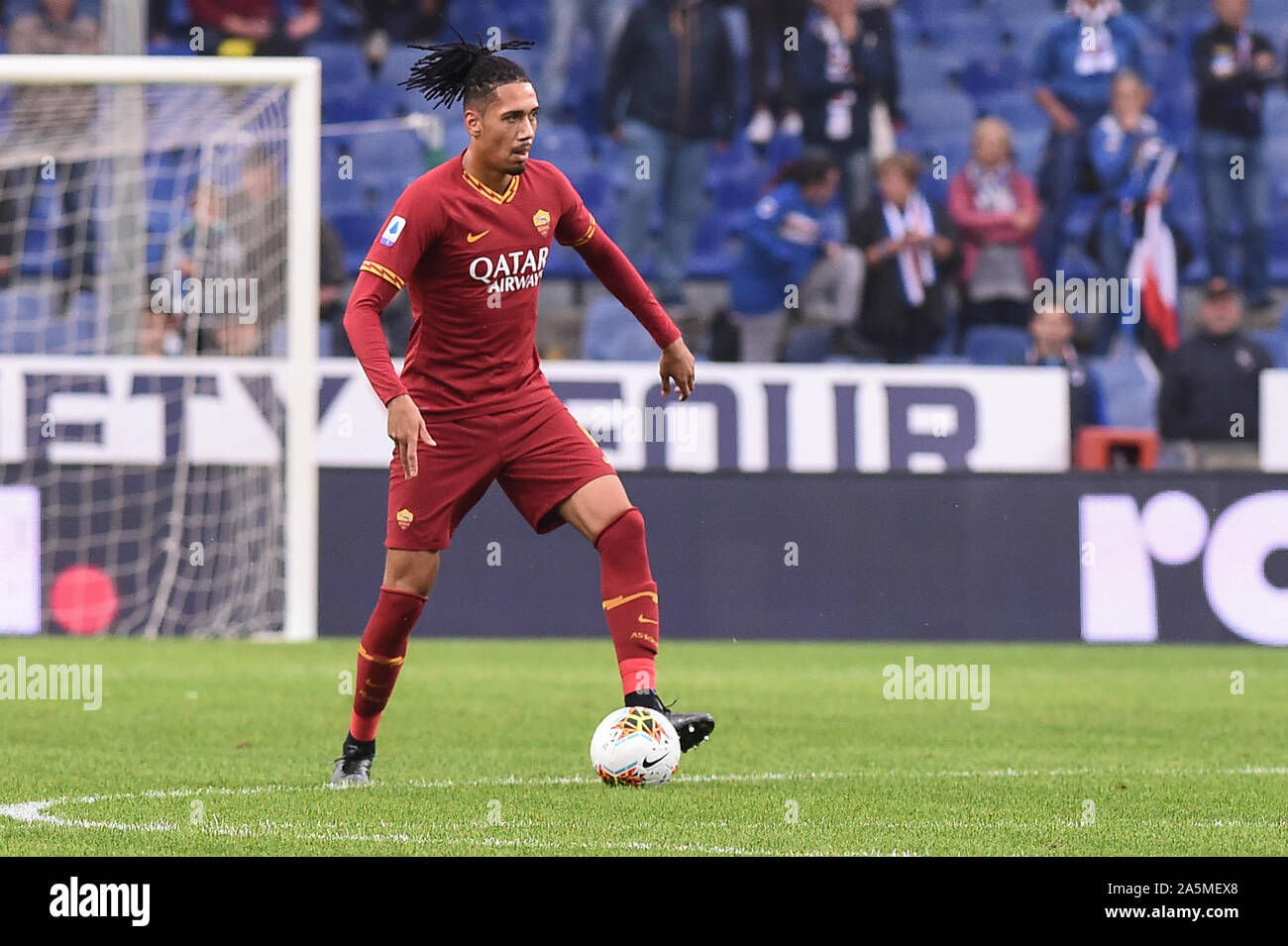 Chris Smalling Roma During Sampdoria Vs As Roma Genova Italy 20 Oct 2019 Soccer Italian Soccer Serie A Men Championship Stock Photo Alamy