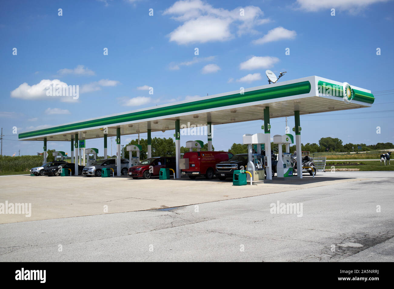 bp gas station in rural indiana USA Stock Photo