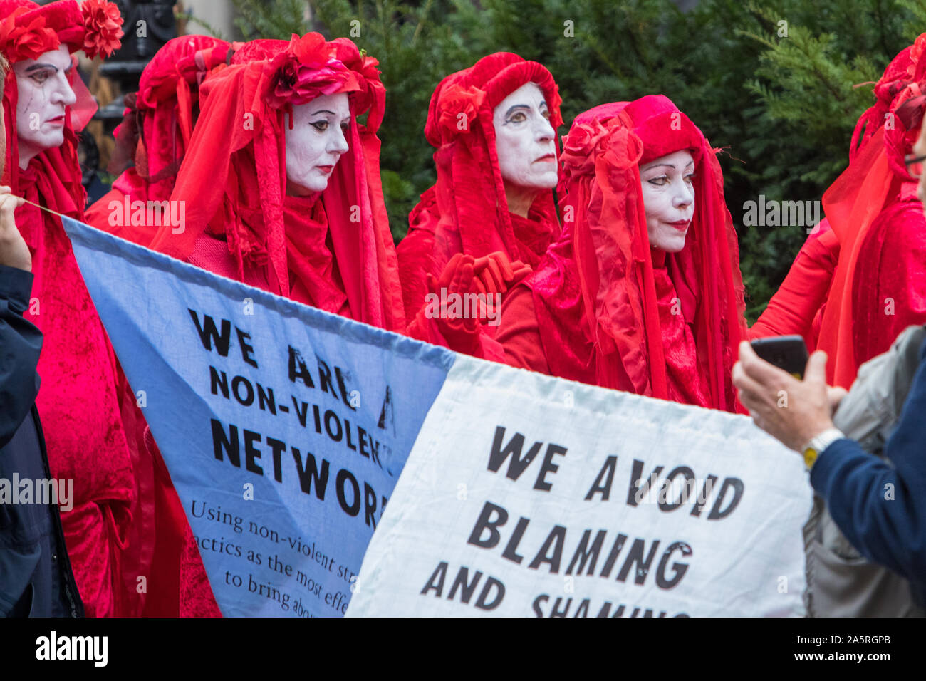 Extinction Rebellion Climate Change Protests London October 2019 Stock Photo