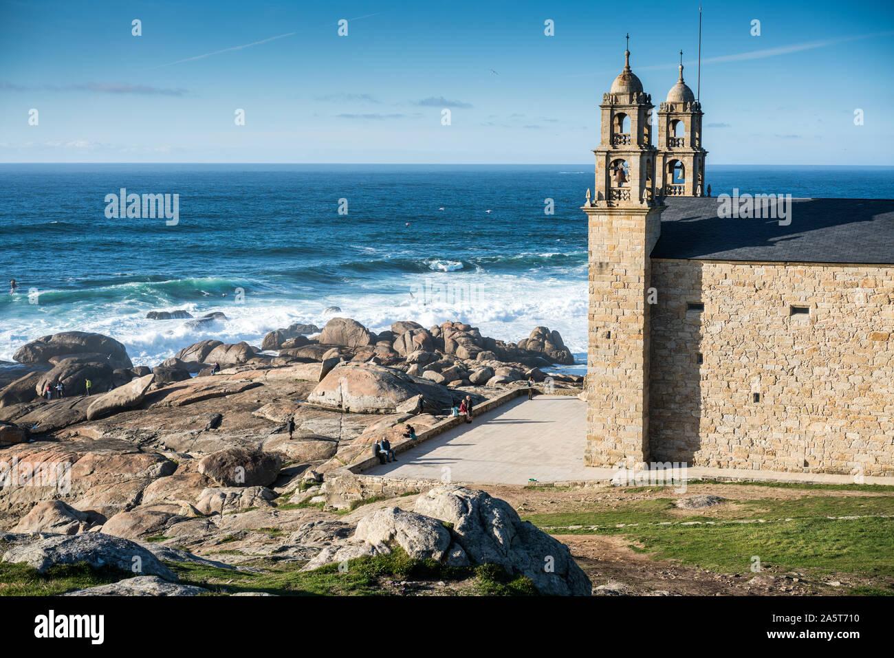 Church Muxia Spain Camino Santiago De Compostela Stock Photo Alamy