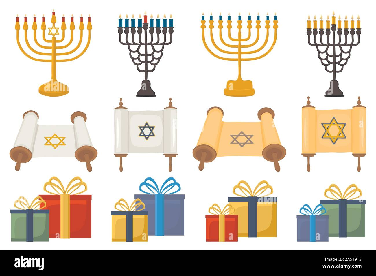 Menorah Dreidel Gelt High Resolution Stock Photography And Images Alamy