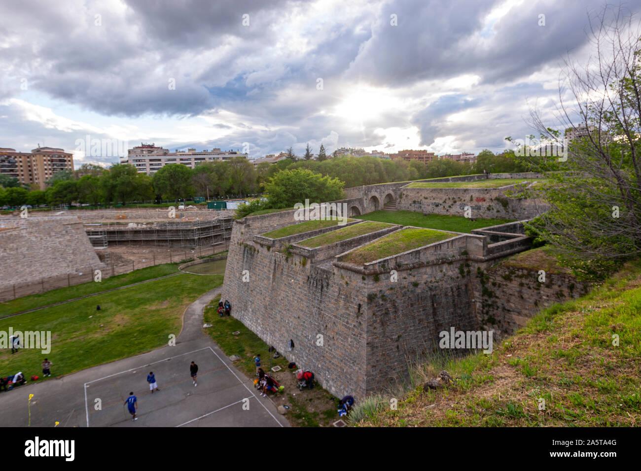 Pentagonal fortress Citadel of Pamplona, Navarra, Spain Stock Photo