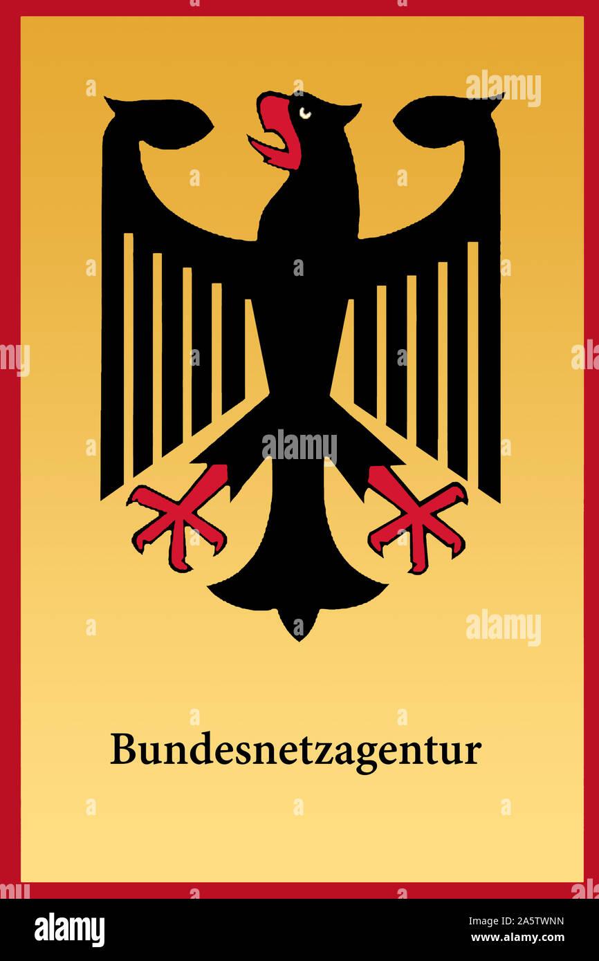 Schild der Bundesnetzagentur Stock Photo