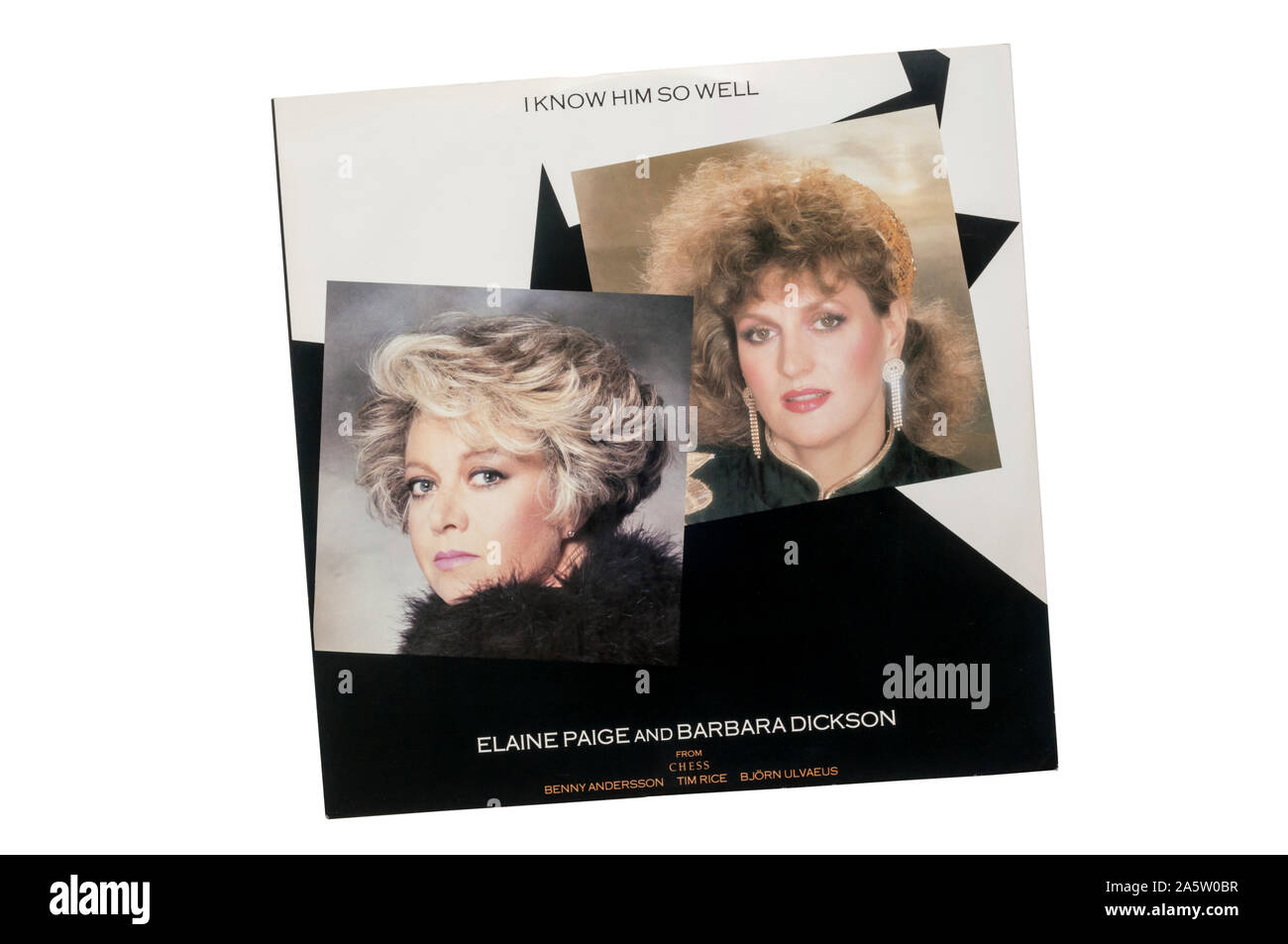 Twelve inch single of I Know Him So Well by Elaine Paige & Barbara Dickson from the musical Chess. Released in 1984. Stock Photo