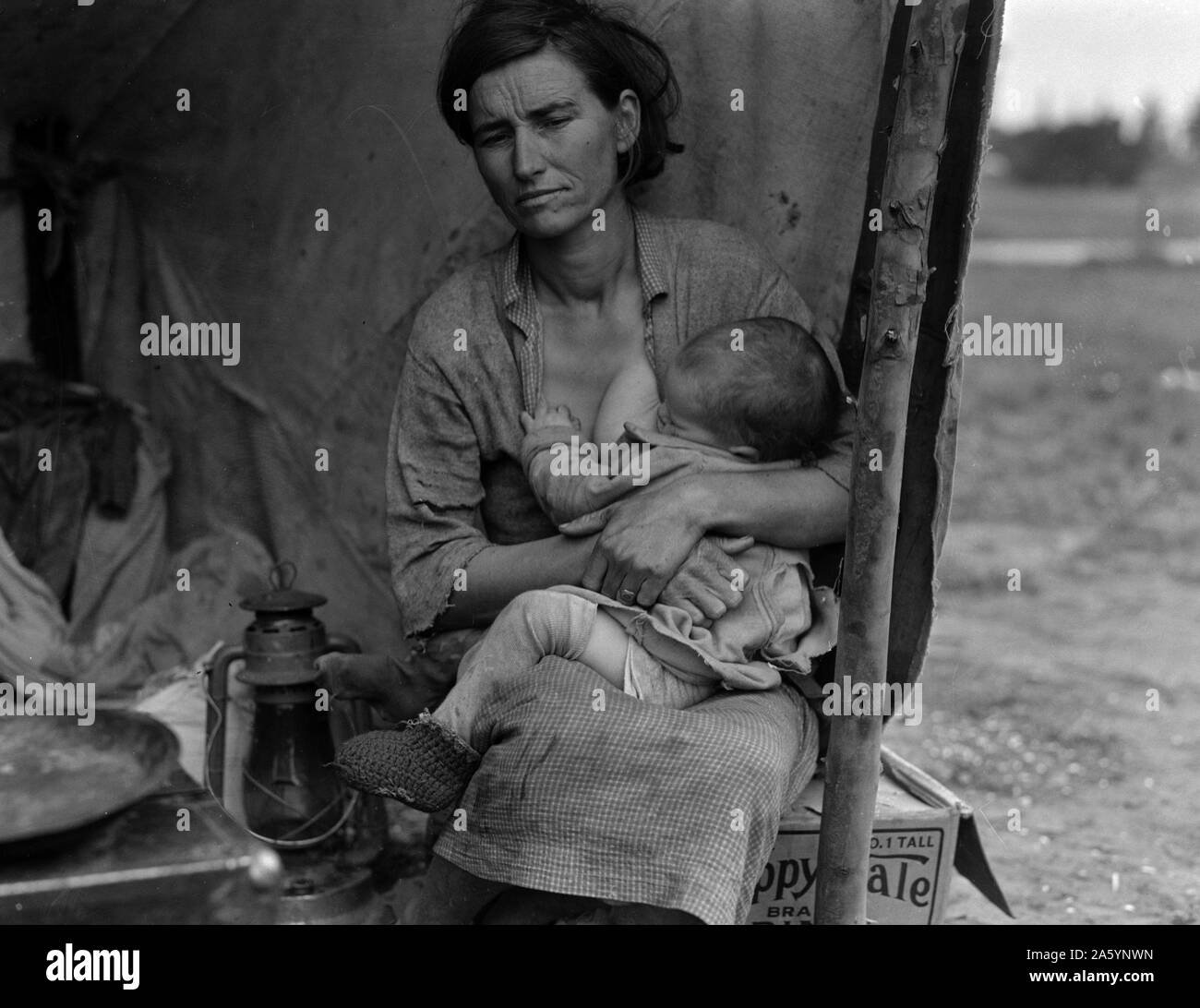 """REPRINT 13/"""" x 19/"""" POSTER MIGRANT MOTHER FLORENCE THOMPSON AGE 32"""