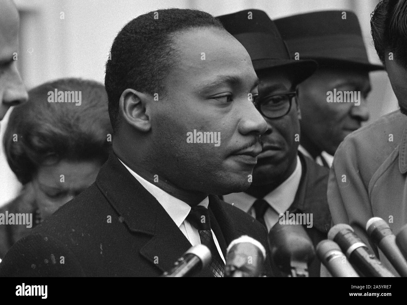 Martin Luther King, Jr. (1929-1968) was an American Baptist minister, activist, humanitarian and leader in the African-American Civil Rights Movement. Stock Photo