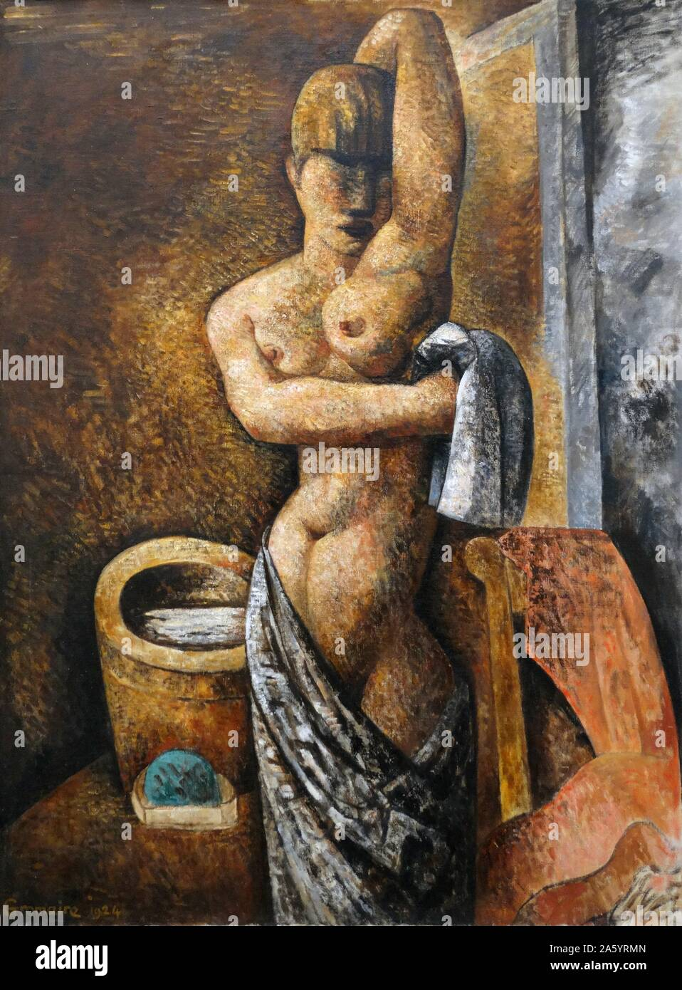 La Toilette 1924 by Marcel Gromaire (July 24, 1892 ñ April 11, 1971) was a French painter. He painted many works on social subjects, and is often associated with Social Realism Stock Photo