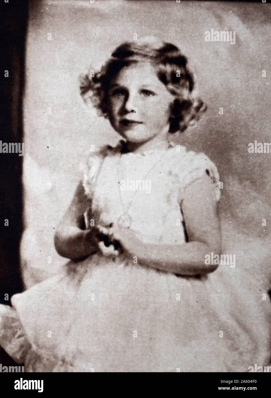 Photographic Portrait Of A Young Princess Margaret 1930 2002 The