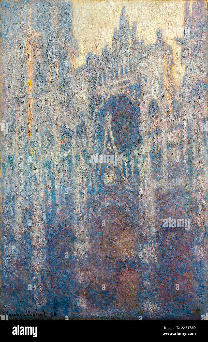 Claude Monet, The Portal of Rouen Cathedral in Morning Light, painting, 1894 Stock Photo