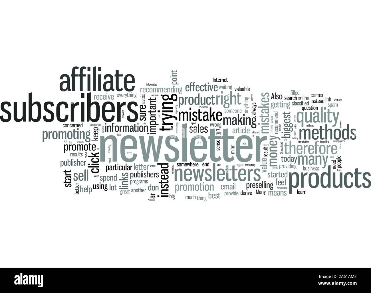 The Biggest Mistakes That Can Spell Doom For You As A Newsletter Publisher And How To Avoid Them Stock Vector