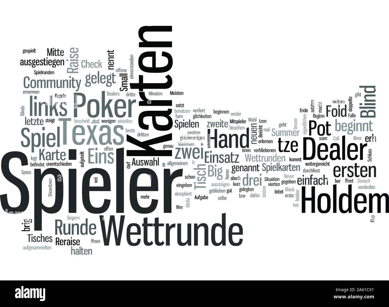 Texas Holdem Spielregeln Stock Vector