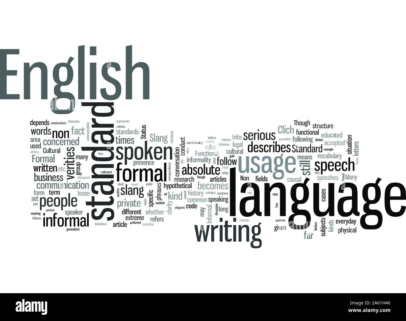 Standards of English Stock Vector