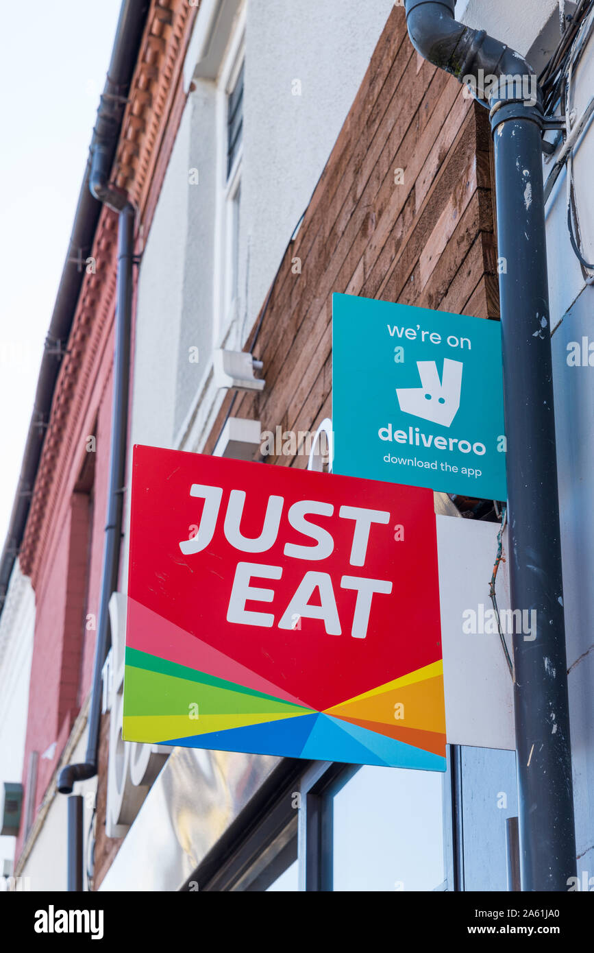 Just Eat Delivery Stock Photos Just Eat Delivery Stock