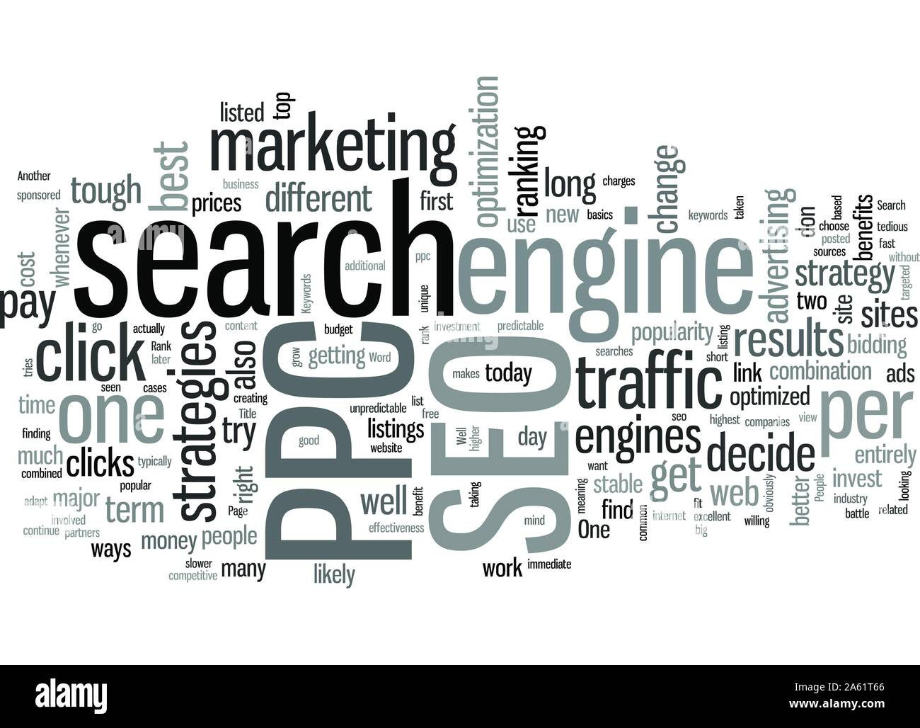 SEO or PPC Which One is Right for You Stock Vector