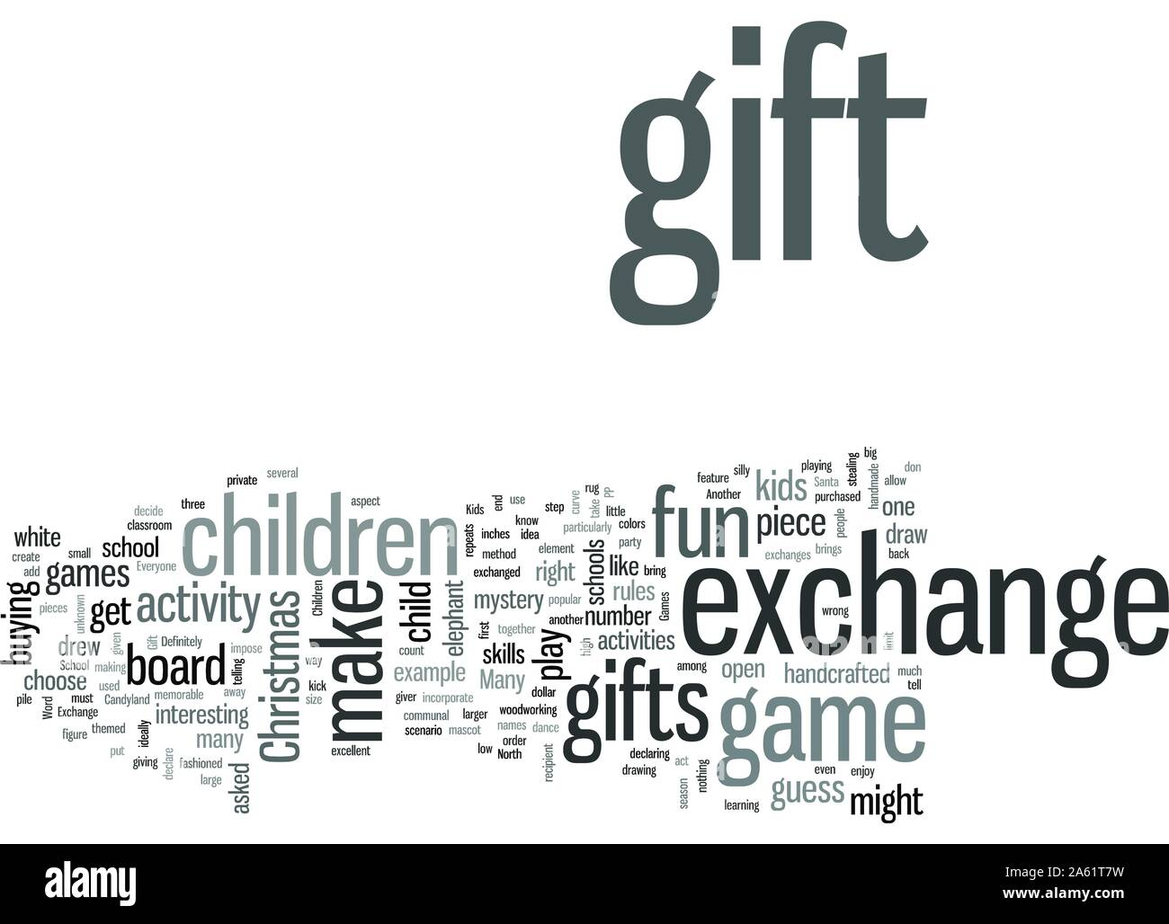 School Christmas Gift Exchange Games Stock Vector Image Art Alamy