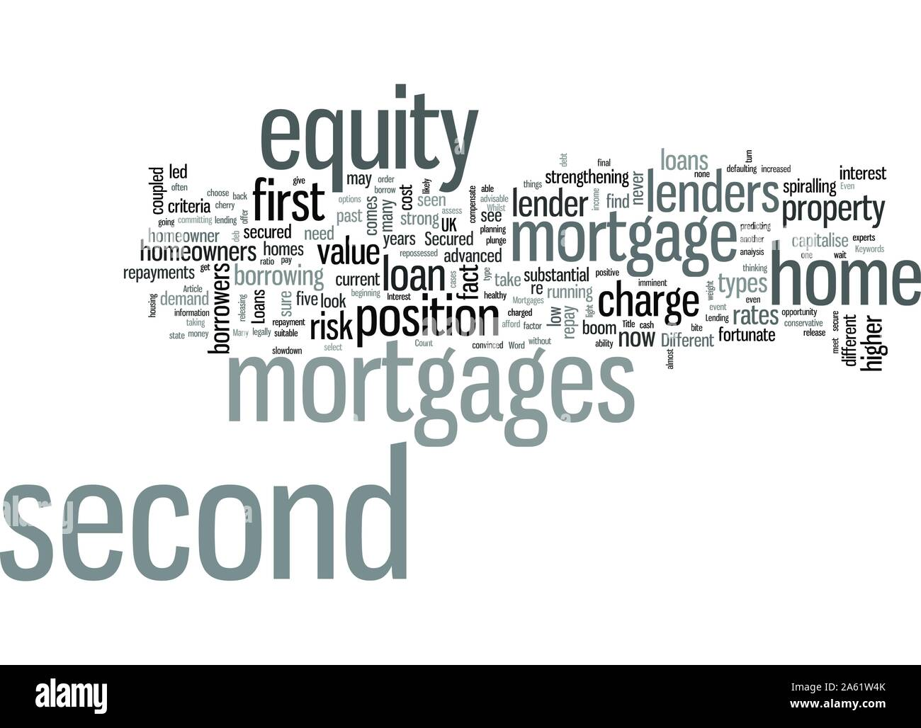 Secured Loans Second Mortgages Stock Vector