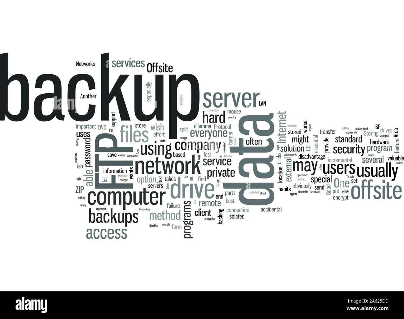 Offsite Backup Benefits And Threats Unveiled Stock Vector