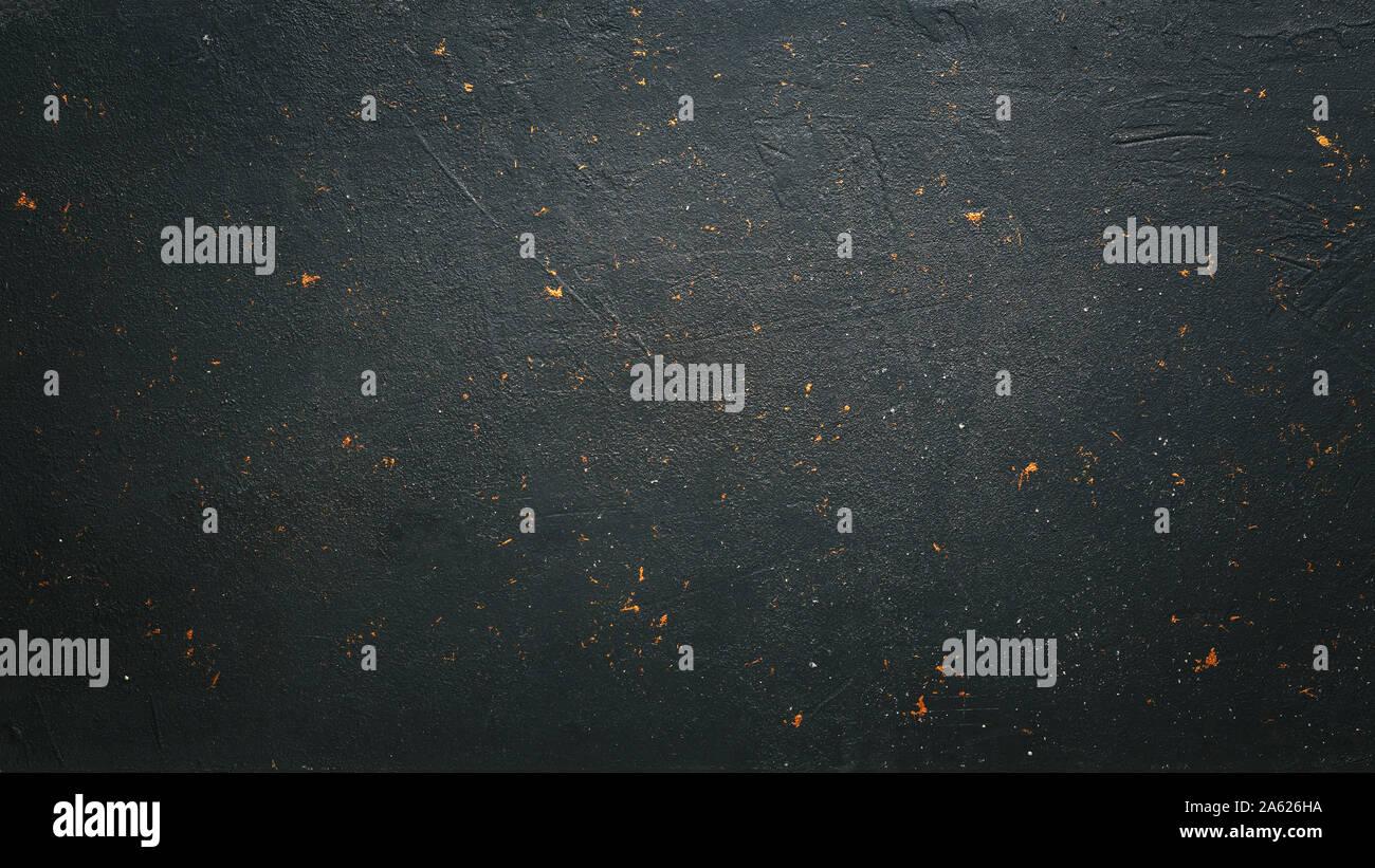 concrete textured, marble board, lit candles, beans ground, beans ground, dark grey concrete Stock Photo
