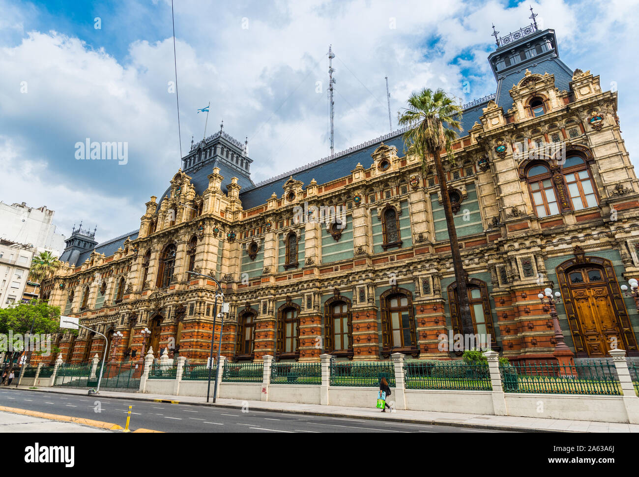 Buenos Aires, Argentina - February 9, 2018: The Water Company Palace building Stock Photo