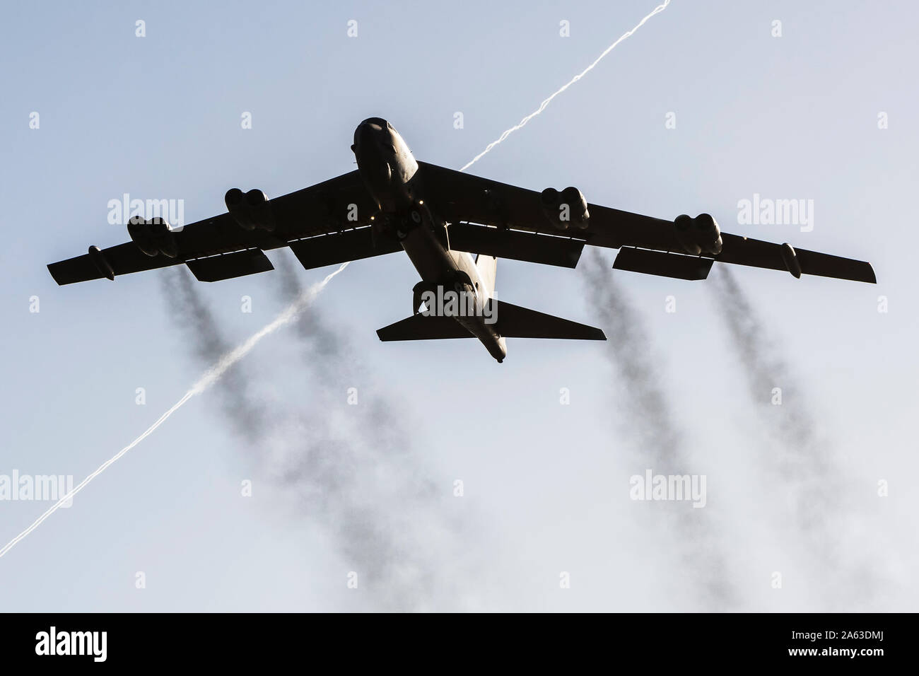 Boeing B-52 Stratofortress during deplyment at RAF Fairford Stock Photo