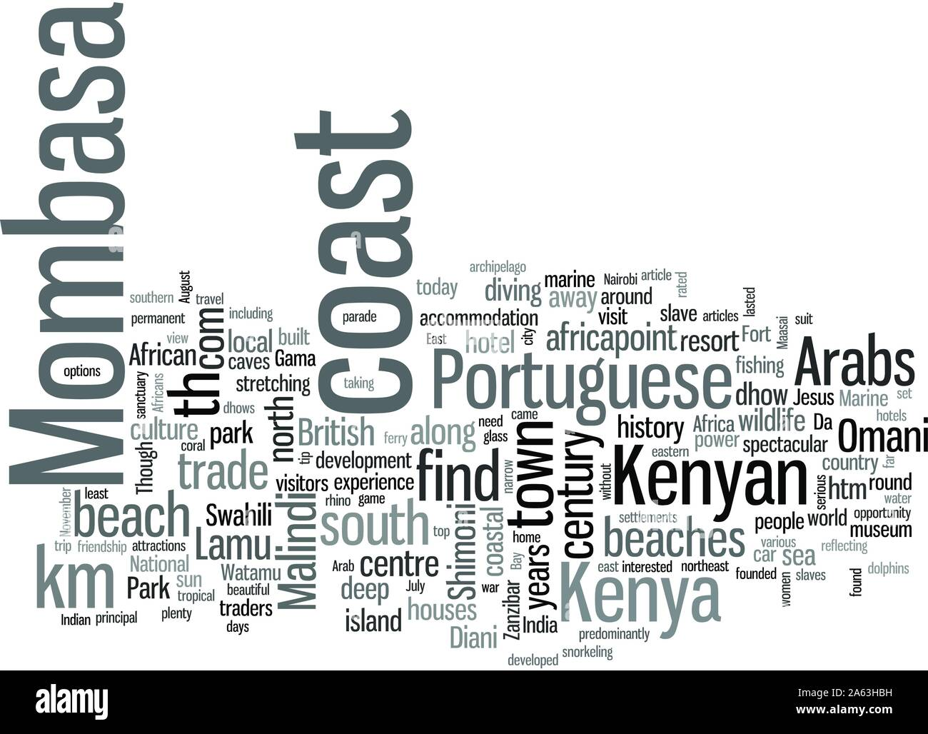 Mombasa the Kenyan Coast Where the Sun is Ever Faithful Stock Vector