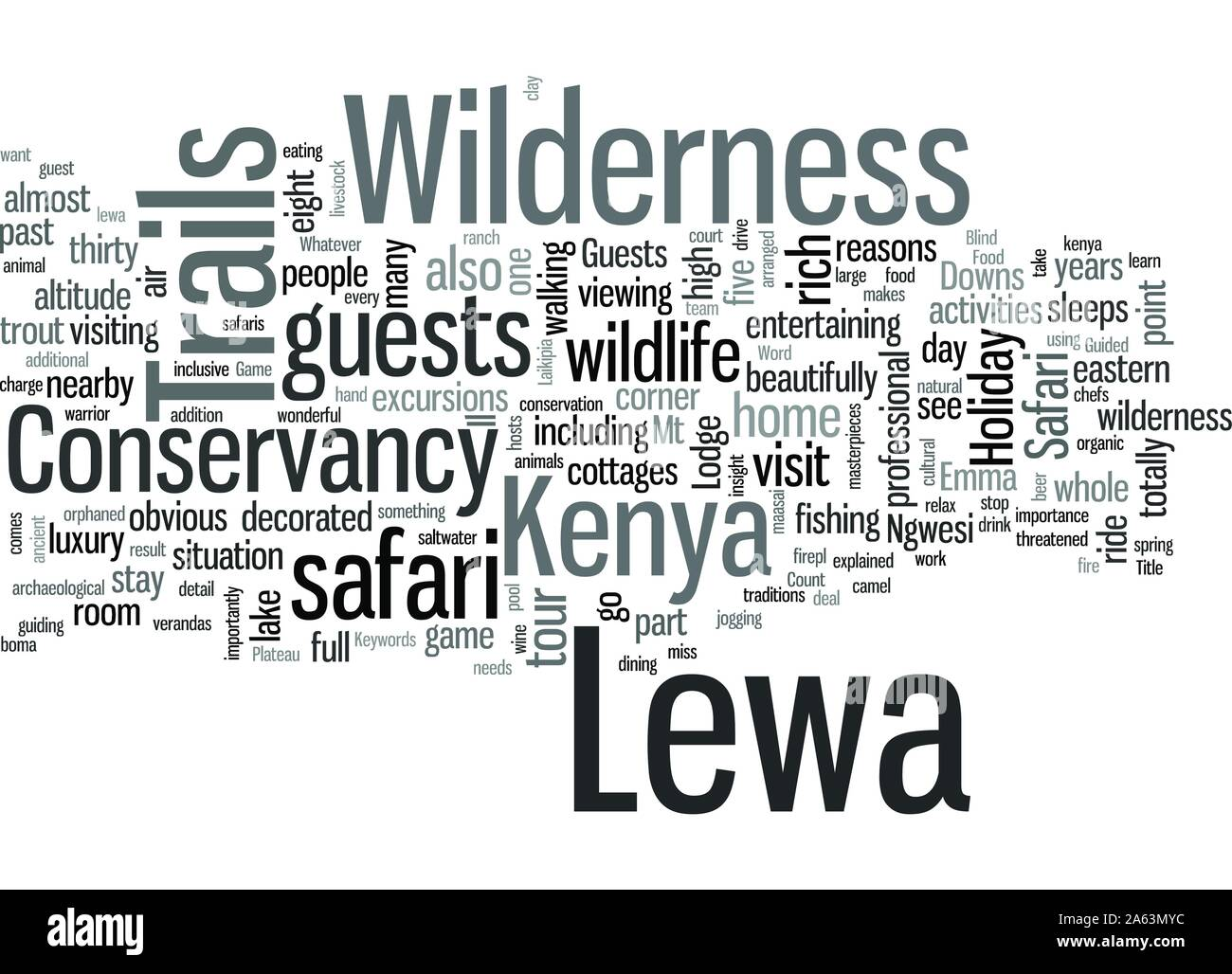 Lewa Wilderness Trails Laikipia Plateau Kenya Stock Vector