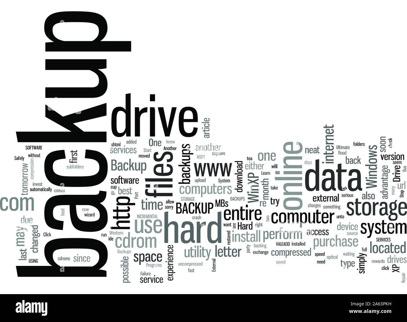 Learn How To Safely Backup Your Hard Drive Stock Vector
