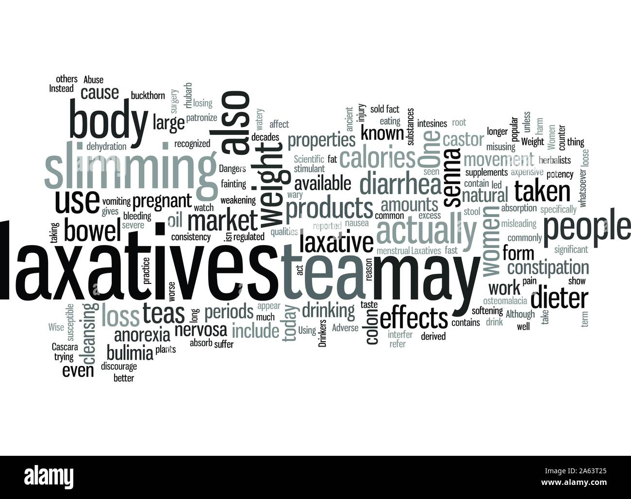 Laxatives And Weight Loss Stock Vector Art & Illustration, Vector ...