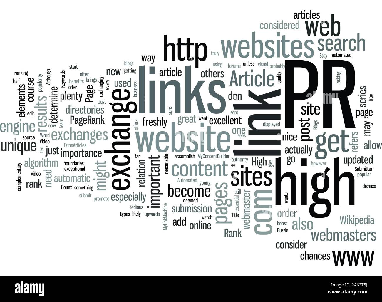 Learn How To Get High PR Links Stock Vector