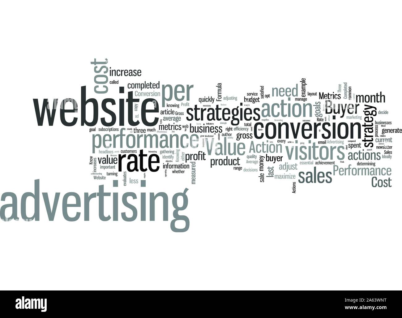 Know These Three Performance Metrics to Increase Website Sales Stock Vector
