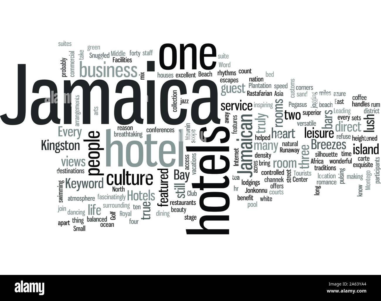 Jamaica Hotels Stock Vector