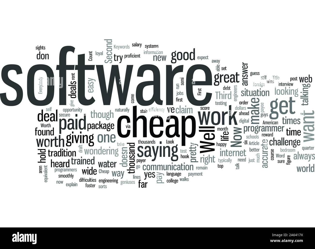 Is Cheap Software Worth A Second Look Stock Vector Image Art Alamy