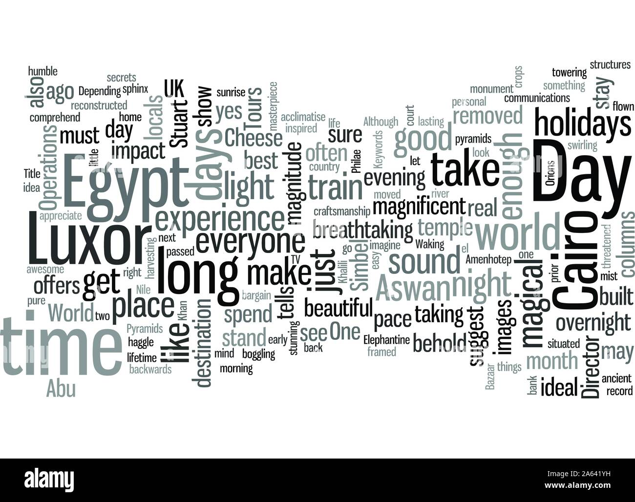 Is a week long enough for a holiday in Egypt Stock Vector
