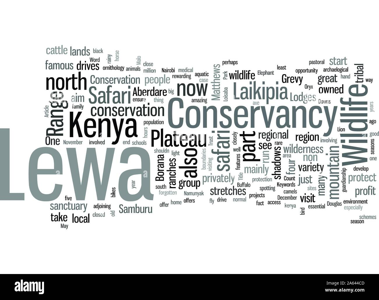 In Kenya Safari To Lewa Conservancy Stock Vector