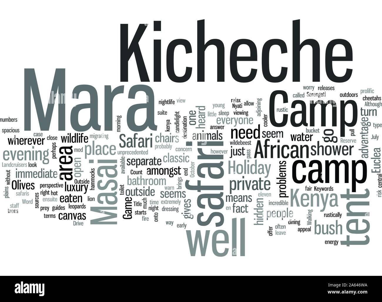 In Kenya Safari At Kicheche Mara Camp Stock Vector