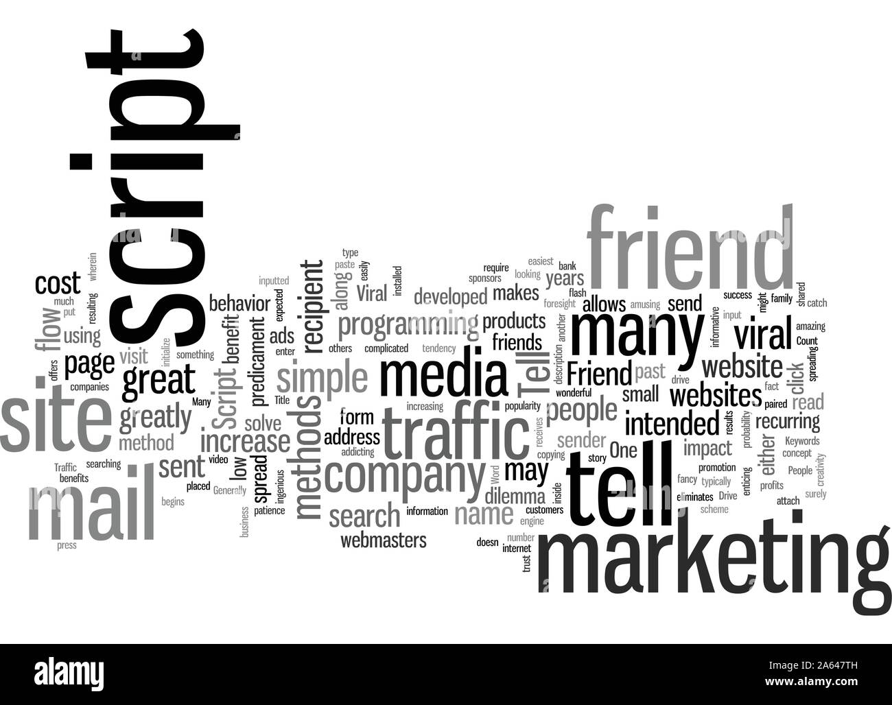 How To Use A Tell A Friend Script To Drive Traffic Today Stock Vector