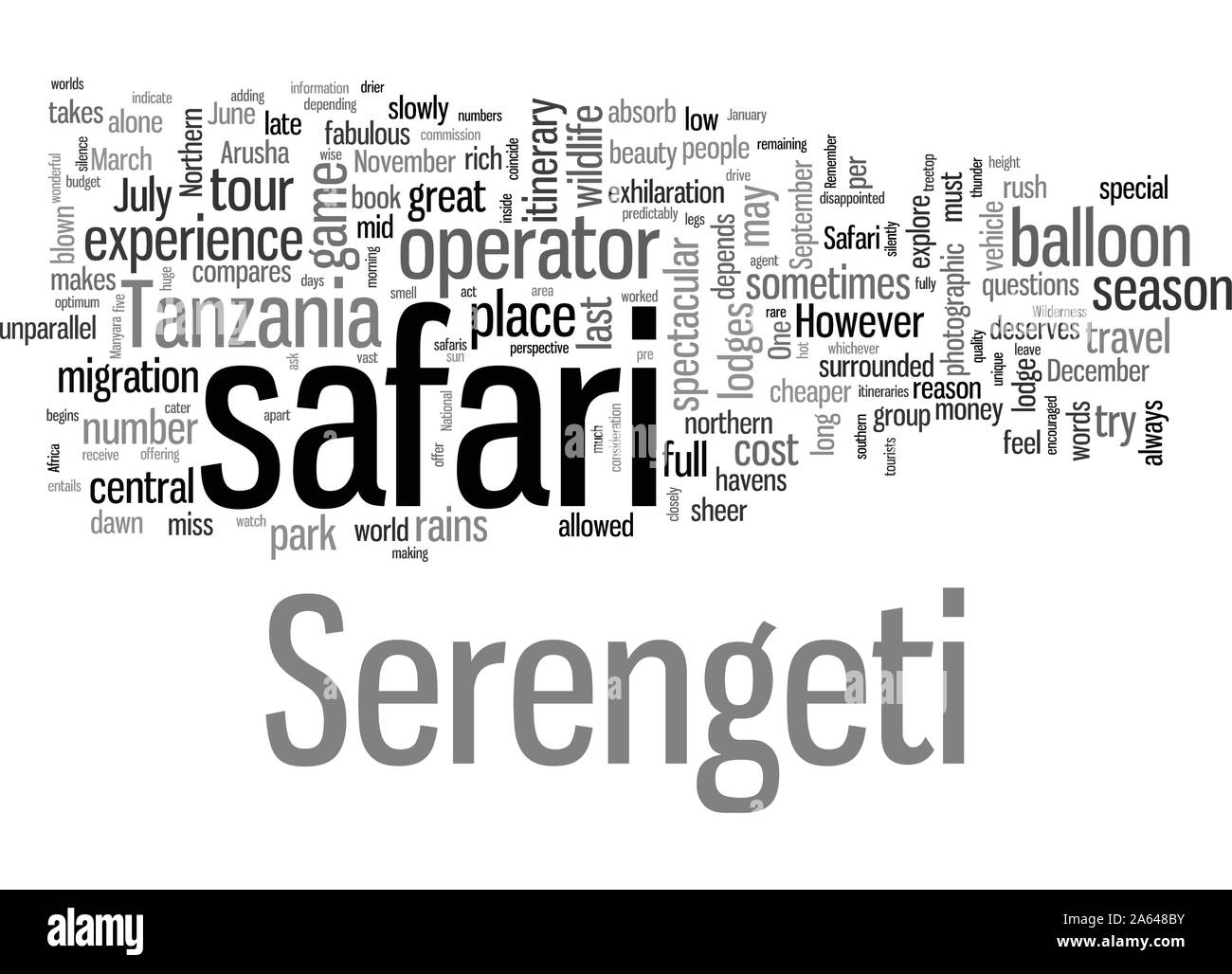 How To Plan For A Serengeti Safari Stock Vector