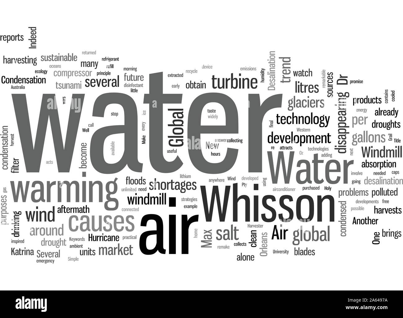 How To Make Water From Air Stock Vector
