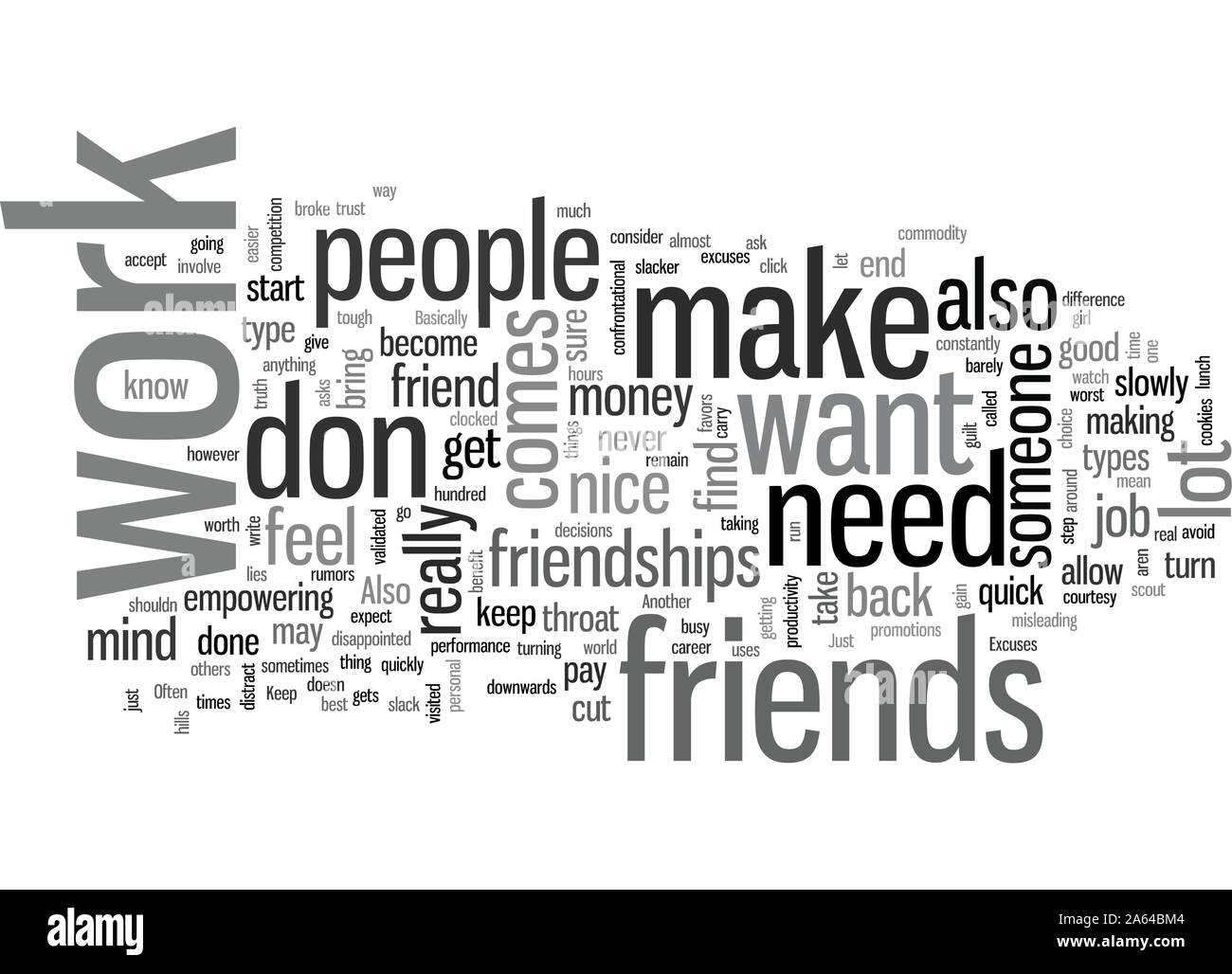 How to make a choice of friends while at work Stock Vector